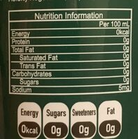 GV4.0 Lime Flavoured Sparkling Water - Nutrition facts - en
