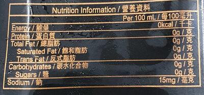 Supreme Meta Green Tea - Informations nutritionnelles - en