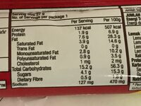 RITZ Crackers Cheese - Informations nutritionnelles - th
