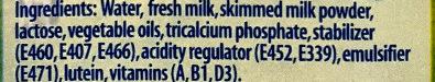 子母天然純牧高鈣較低脂牛奶飲品 - Ingredients - en