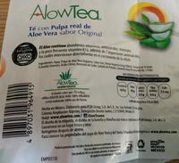 AlowTea Original Té Verde - Informations nutritionnelles