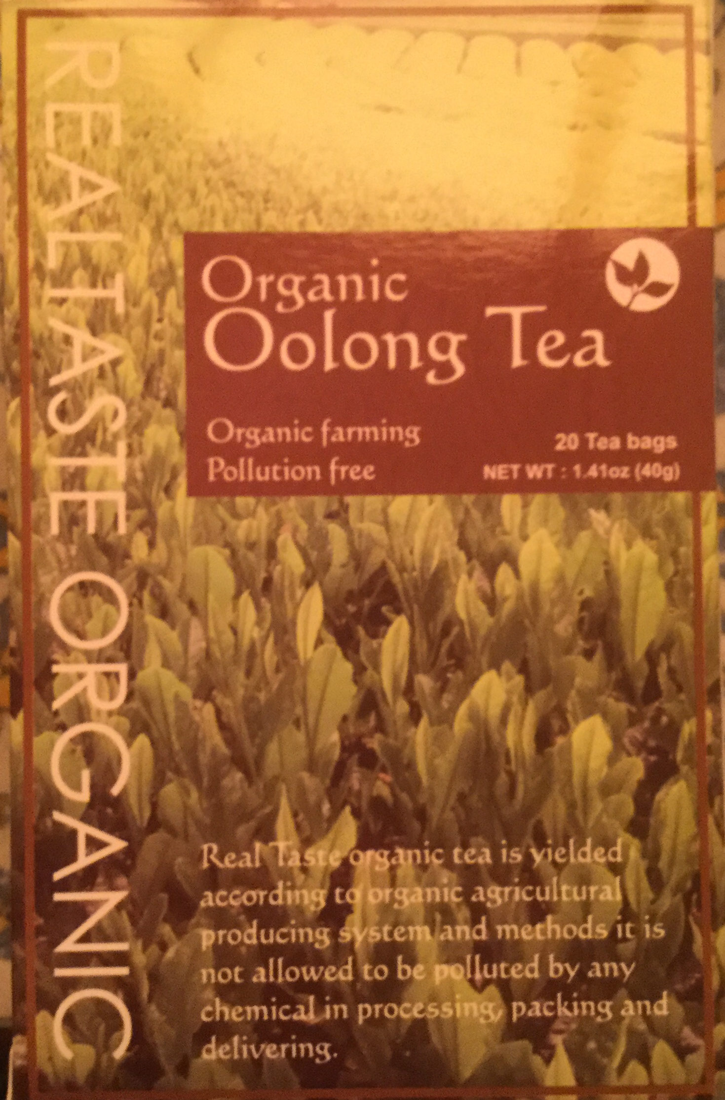 Organic oolong tea - Product