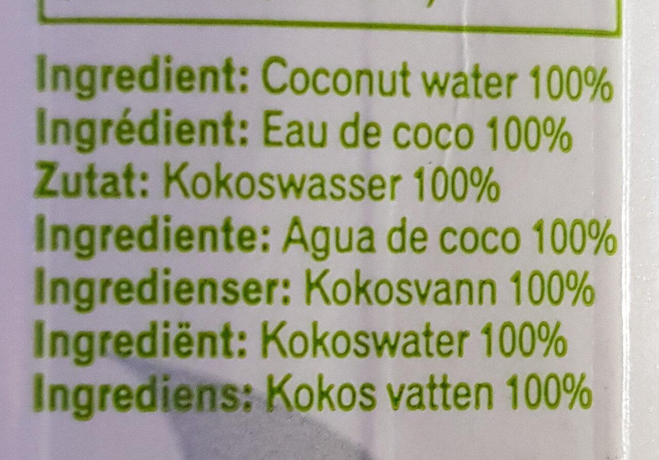 Jax Coco 100% Pure Coconut Water - Ingredients - es