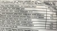 Instant noodle Five Spices Beef Flavour - Informations nutritionnelles - zh