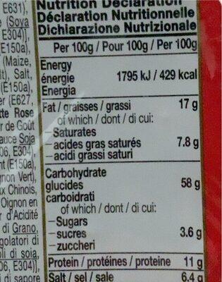 Cup Noodles - Nutrition facts - fr