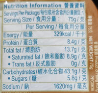 cup noodles seafood curry - Nutrition facts - en