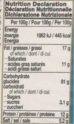Nissin Cup Noodles Seafood Flavour - Nutrition facts - fr