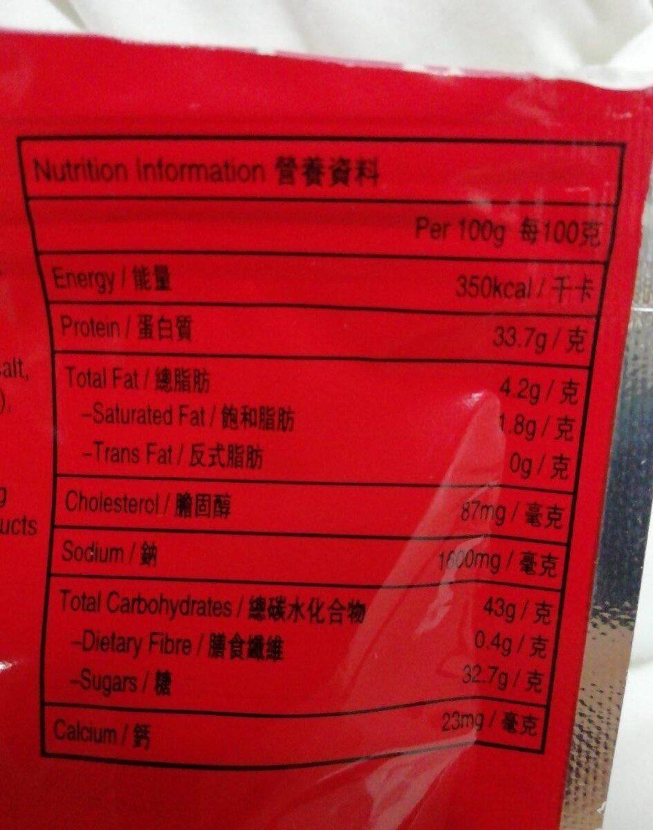 Spicy beef cube - Voedigswaarden
