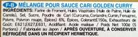 Golden Curry - Sauce mix - Ingrediënten - fr