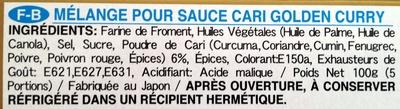 Golden Curry - Sauce mix - Ingrediënten