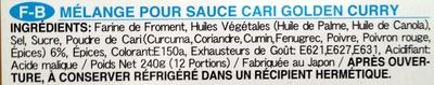 Golden curry medium - Ingredienti - fr