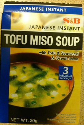Japanese Instant Tofu Miso Soup with Tofu Seaweed and Green Onion - Product