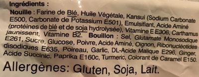 All-In-One Ramen - Ingrediënten