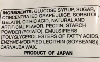 Grape gummy candy - Ingredients - en