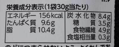 ミーノ 黑豆 しお味 - 栄養成分表 - ja