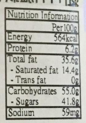 ハローキティチョコひなあられ - 栄養成分表