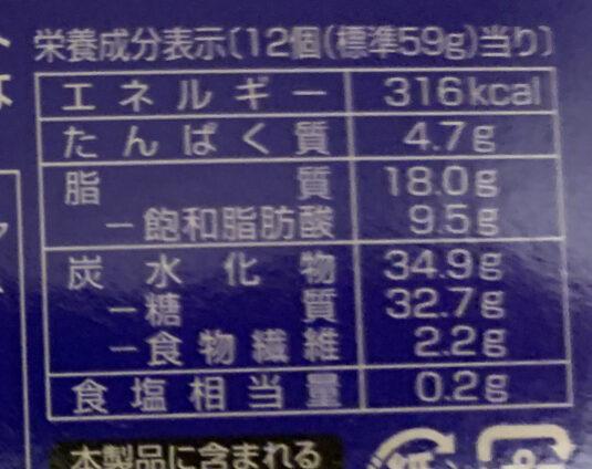 アルフォートミニチョコレート - 栄養成分表 - ja