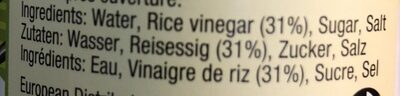 Seasoning For Sushi Rice - Ingrédients - fr