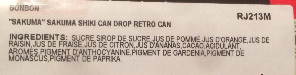 Drops - Le tombeau des Lucioles - 原材料