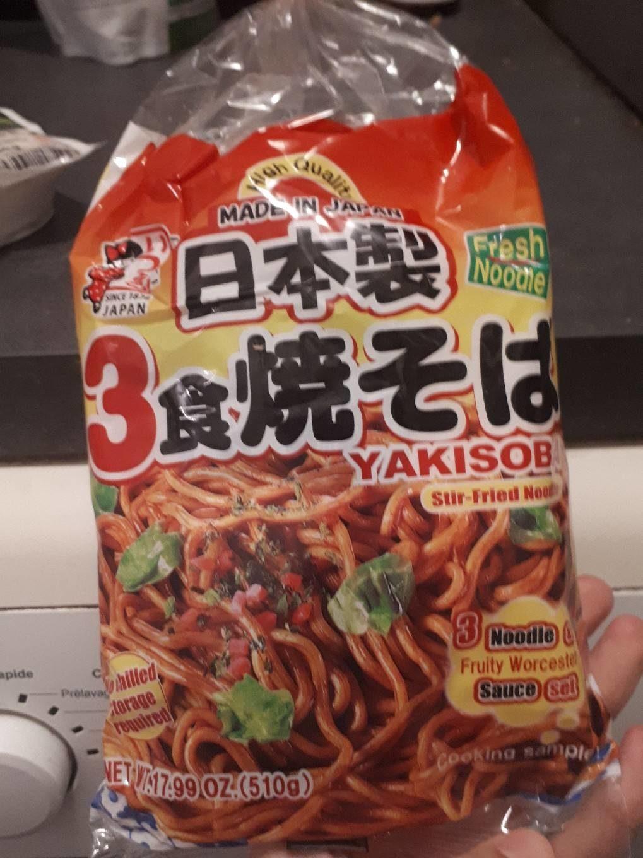Itsuki Kaigaiyo Shoku Yakisoba (with Sauce) 3PC - Product - fr