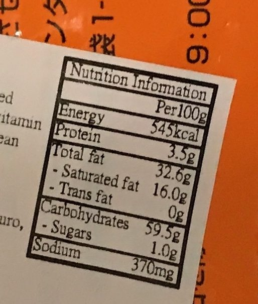 Potato Ring Salt (Halloween Edition) - Voedingswaarden - en