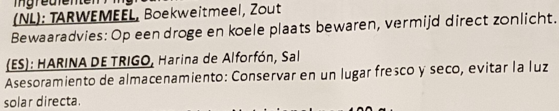 soba - Ingrediënten - nl