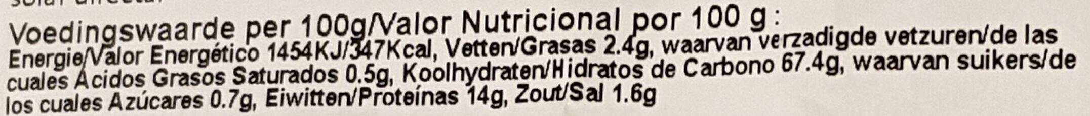 soba - Voedingswaarden - nl