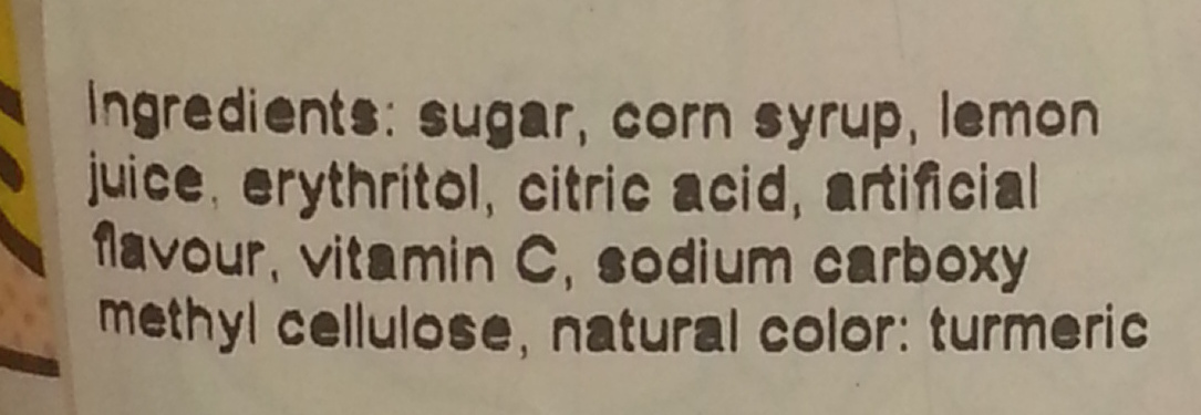 Super Lemon - Ingredients