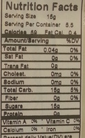 Super Lemon - Nutrition facts