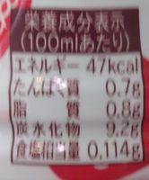 まろやかいちご&ミルク - 栄養成分表