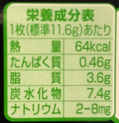 KitKat Uji Matcha (thé vert) - Nutrition facts - fr