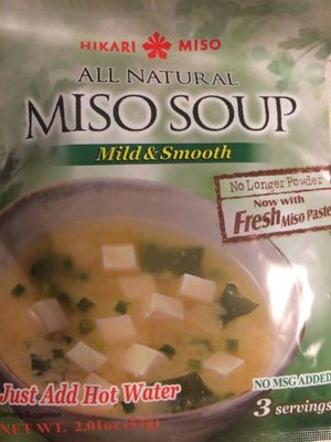 Soupe Miso 57G - Información nutricional - fr