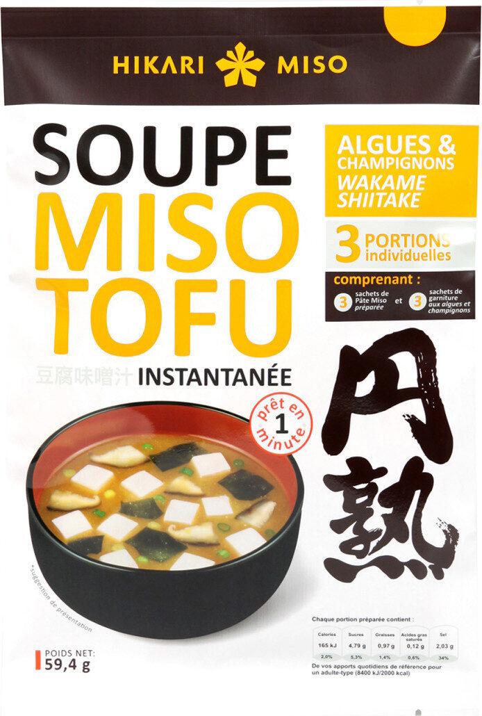 Soupe Miso Tofu Champignon Shiitake - Produit - fr