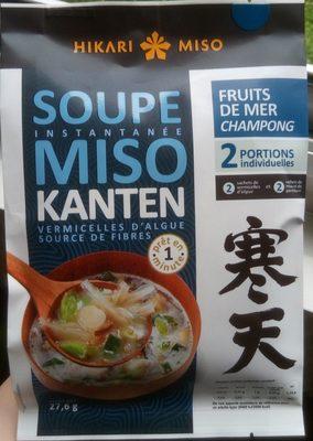 Soupe instantanée miso Kanten aux fruits de mer - Produit - fr