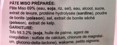 Soupe Miso - Ingrédients - fr