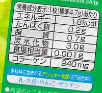 - 栄養成分表