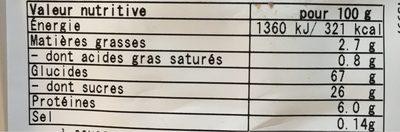 Assortiment De Gateaux Japonais X18 - Voedingswaarden