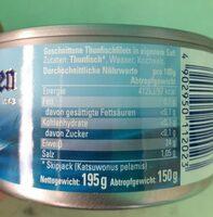 Tonno al naturale - Informations nutritionnelles - de