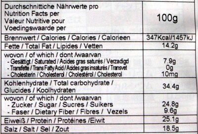 Furikake Misogeschmack - Nutrition facts - de