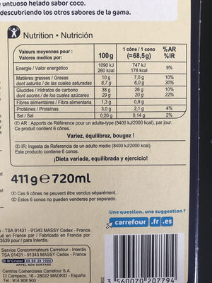 Coco - Informations nutritionnelles - fr