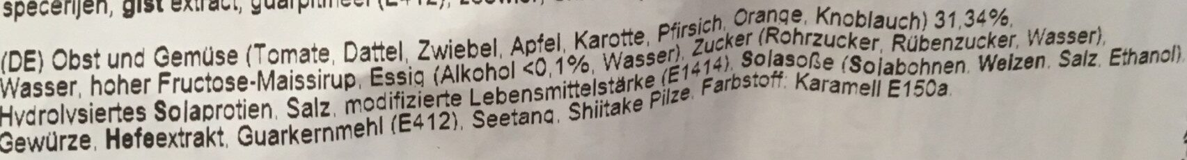 Okonomi Sauce - Inhaltsstoffe