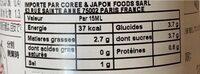 Kenko Creamy Kin Goma Dressing 500ML - Informations nutritionnelles - ja
