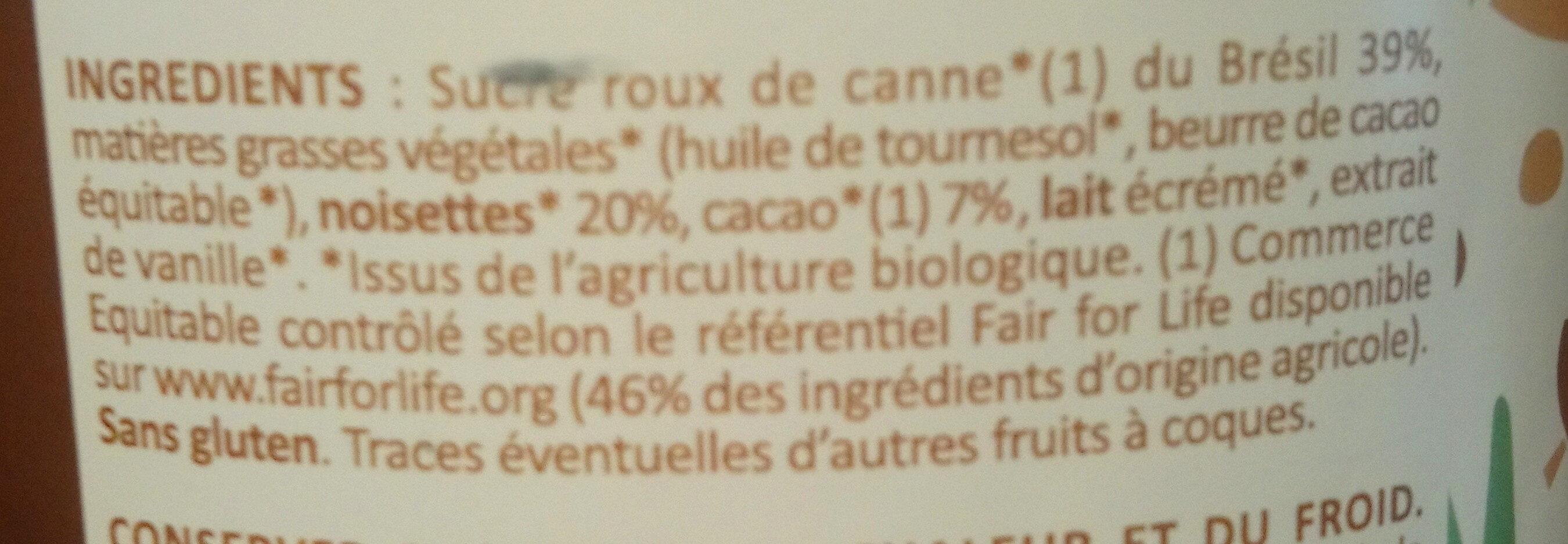 choko noisette - Ingredients - fr