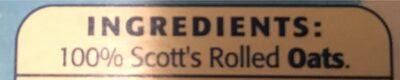 Scott's Porage Oats Original 1000g - Ingrediënten - en