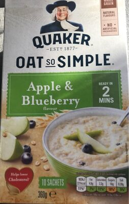 Quaker Oats So Simple Apple And Blueberry Porridge 10X36g - Produit