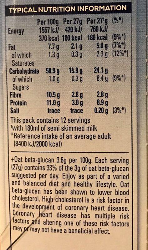 Oat So Simple Original - Informations nutritionnelles - fr