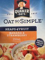 Quaker Oats So Simple Heaps Of Fruit Ban / Str 8X35.5G - Product - fr