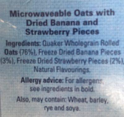Quaker Oats So Simple Heaps Of Fruit Ban / Str 8X35.5G - Ingrediënten - fr