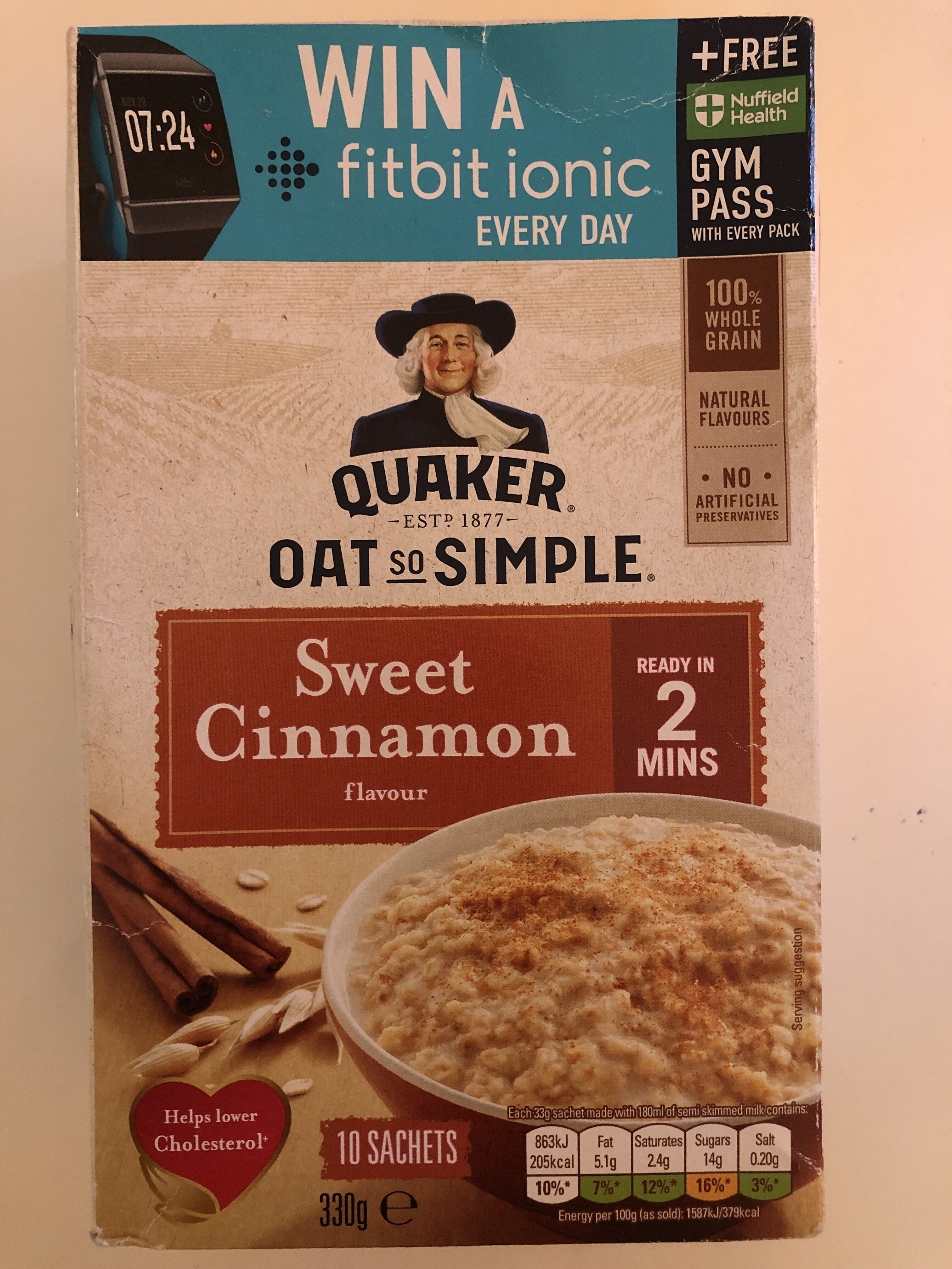 QUAKER OAT so SIMPLE Sweet Cinnamon - Product - en