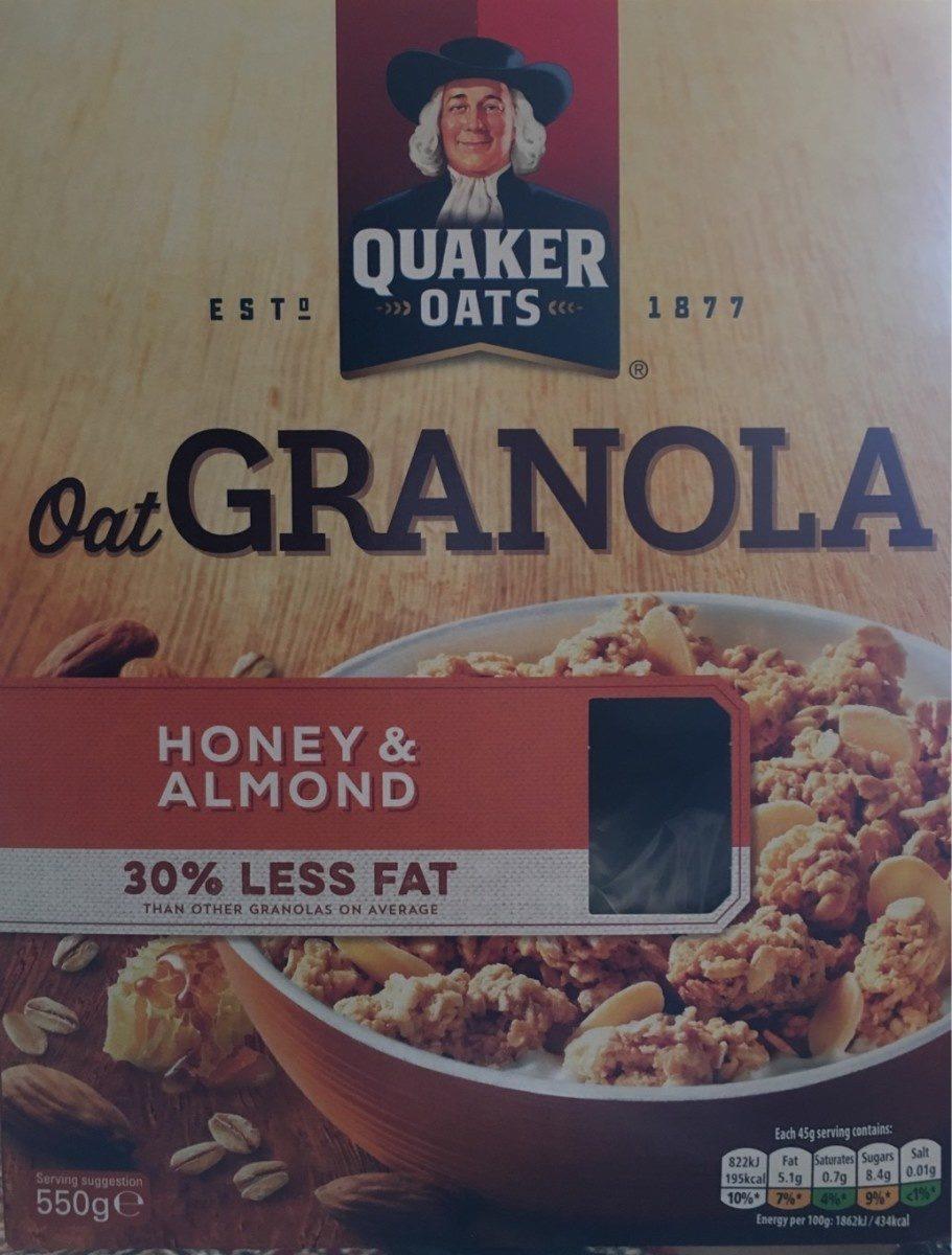 Quaker Oats Oat Granola Honey Almond